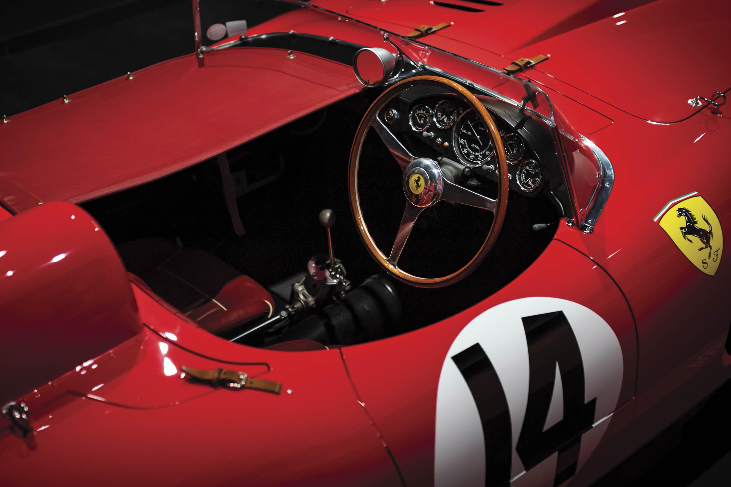 1956 Ferrari 290 MM by Scaglietti cockpit
