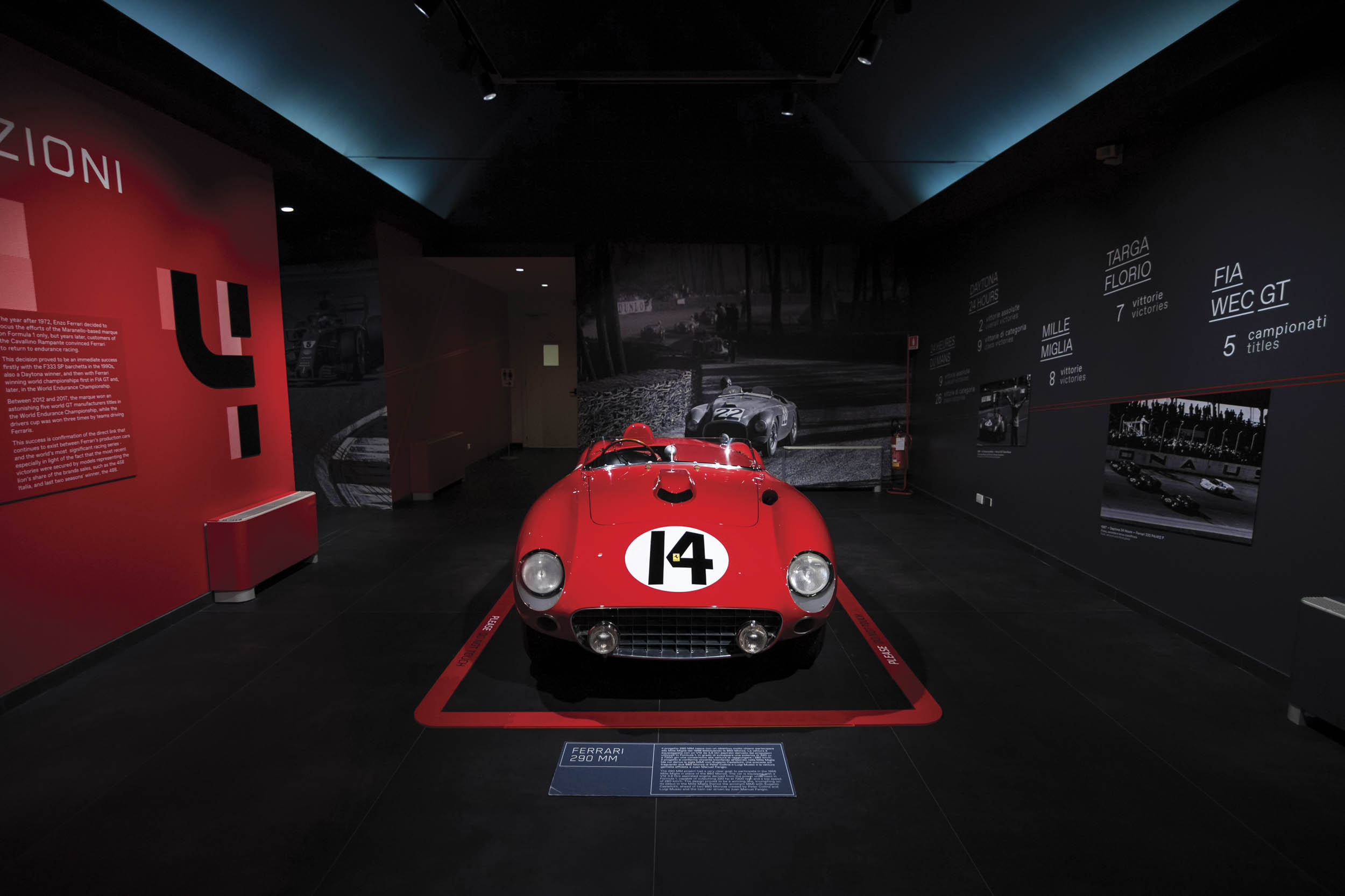 1956 Ferrari 290 MM by Scaglietti overhead