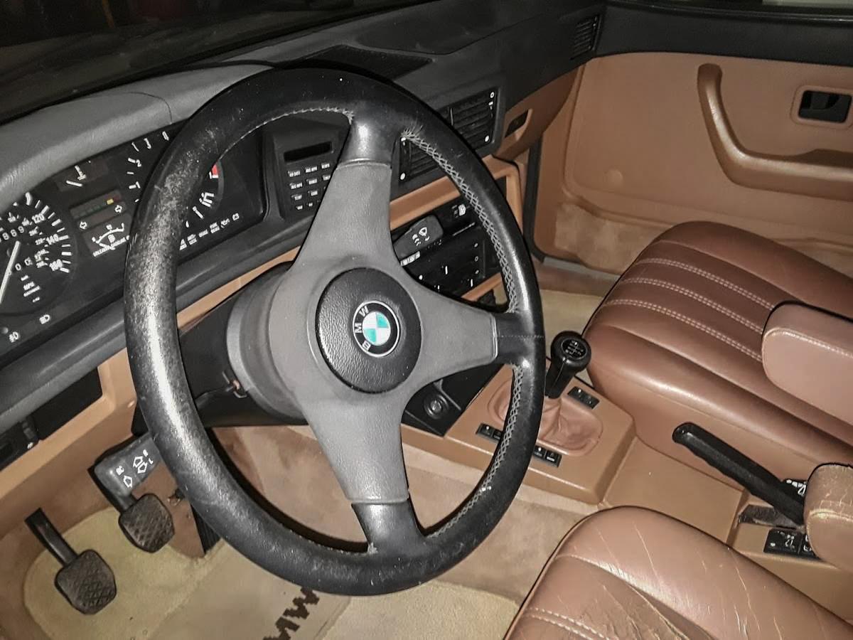 The car's luscious-looking Lama interior. bmw