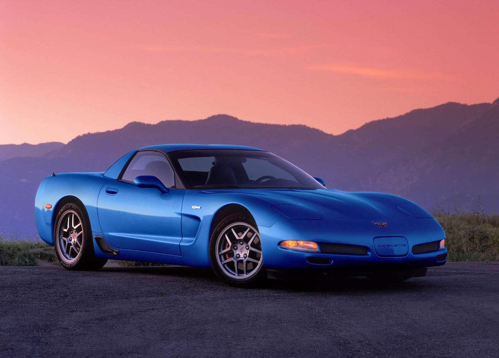 2002 Chevrolet Corvette Z06 electron blue 3/4 front
