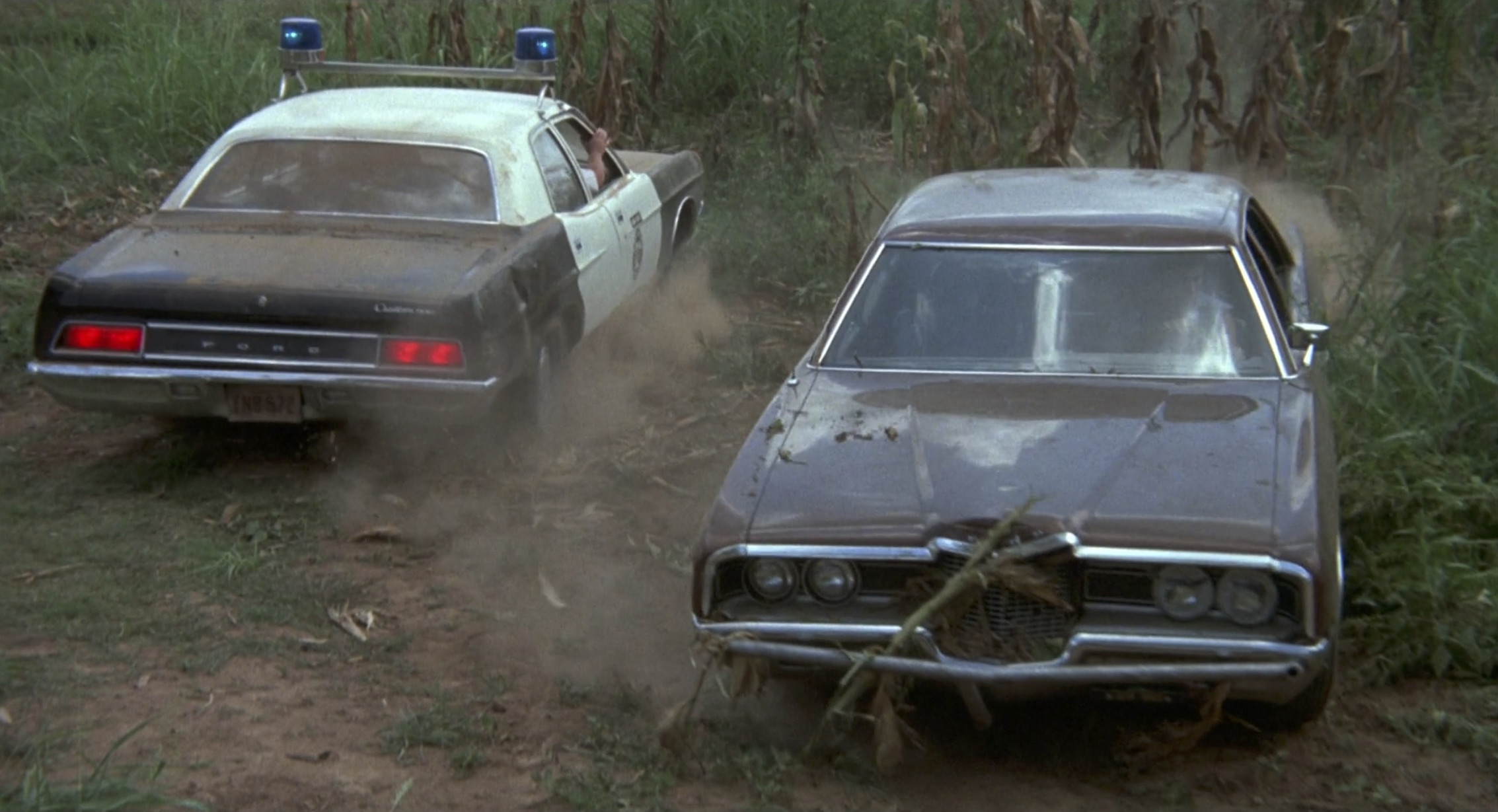 Burt Reynolds White Lightning cops in corn