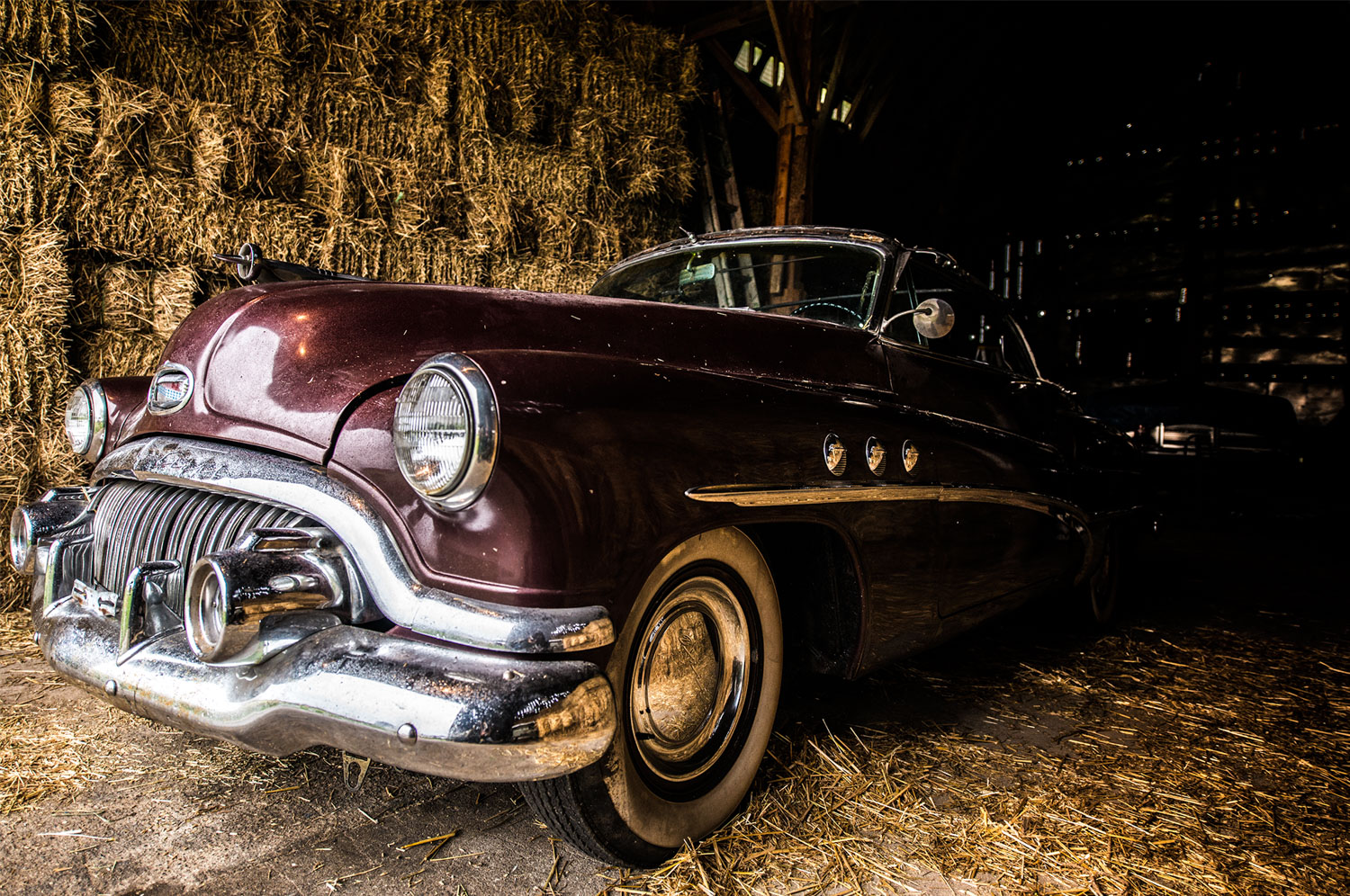 buick in the barn