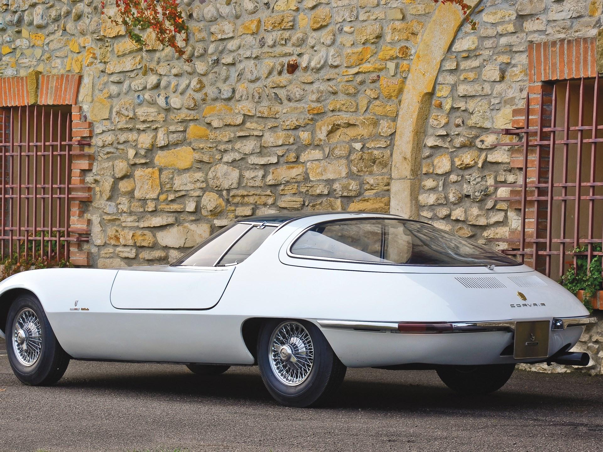 1963 Chevrolet Corvair Testudo concept rear 3/4