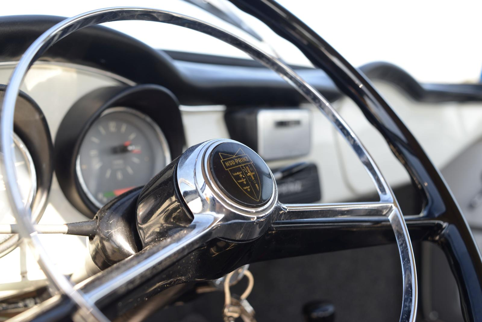 1966 NSU Sport Prinz Coupé steering wheel