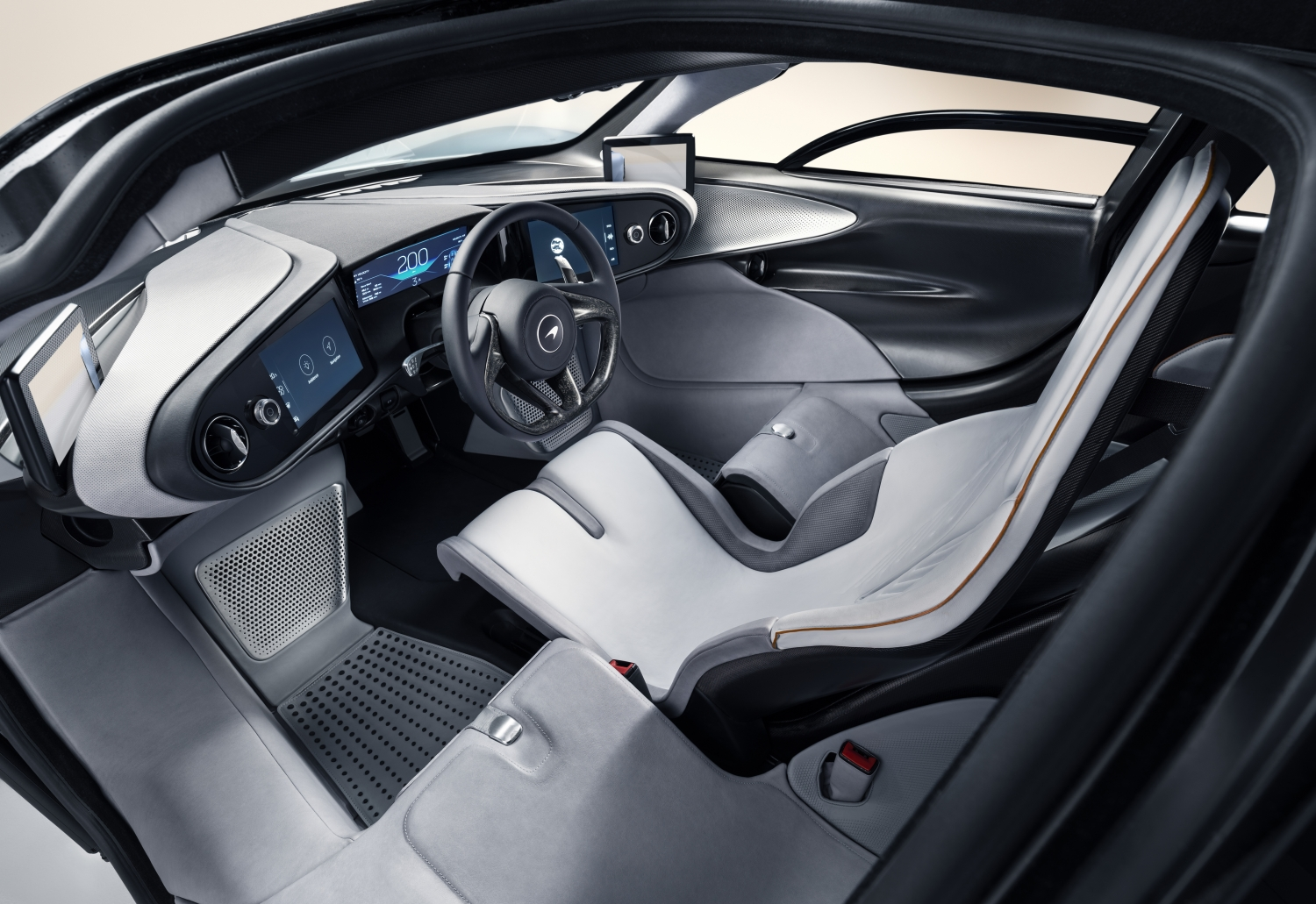McLaren Speedtail Interior dash layout