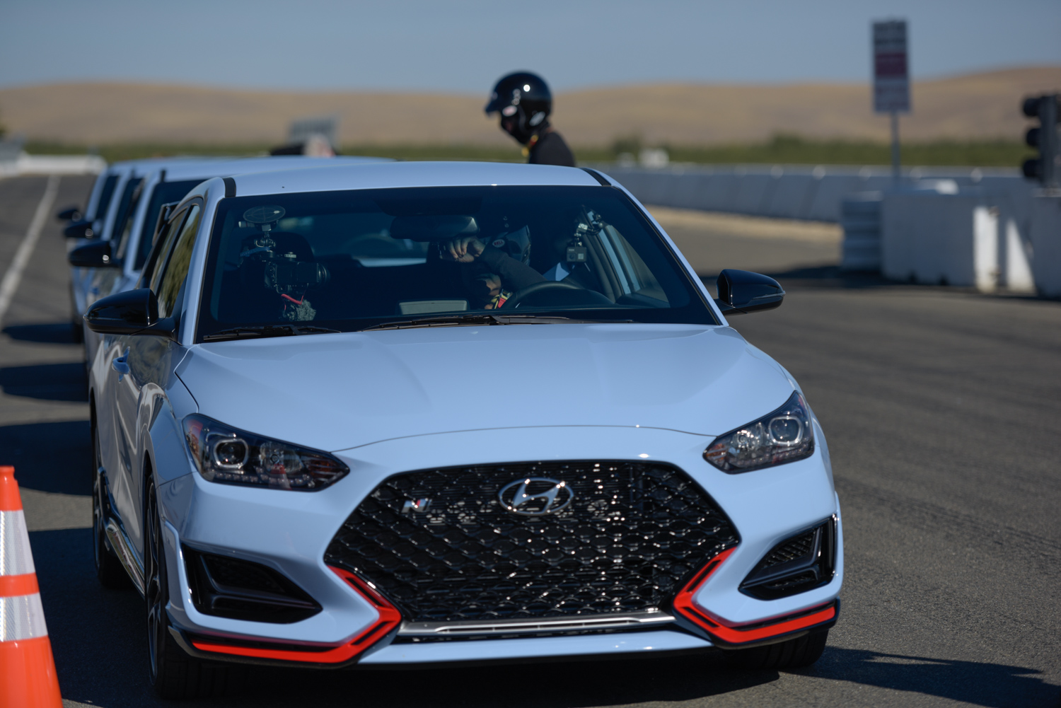 2019 Hyundai Veloster N in the pits