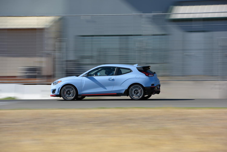 2019 Hyundai Veloster N side profile straight away