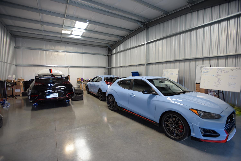 2019 Hyundai Veloster N garage pits
