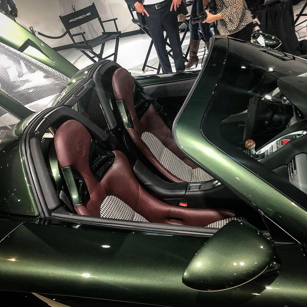 Porsche classic Carrera GT restoration green seats