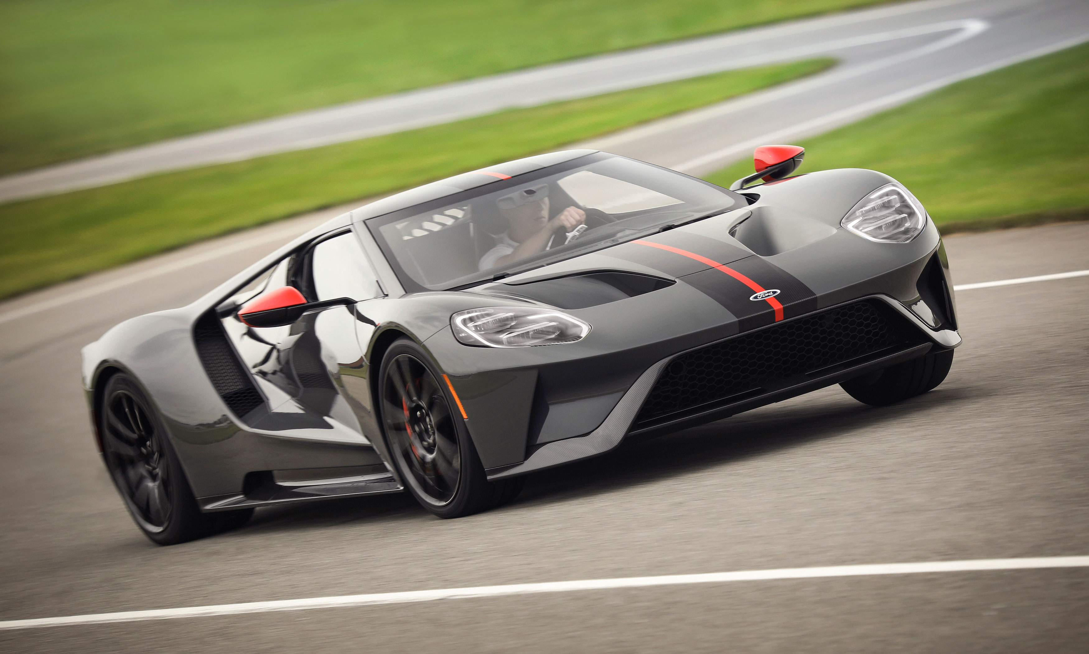 ford gt carbon series 2019 cornering orange stripe