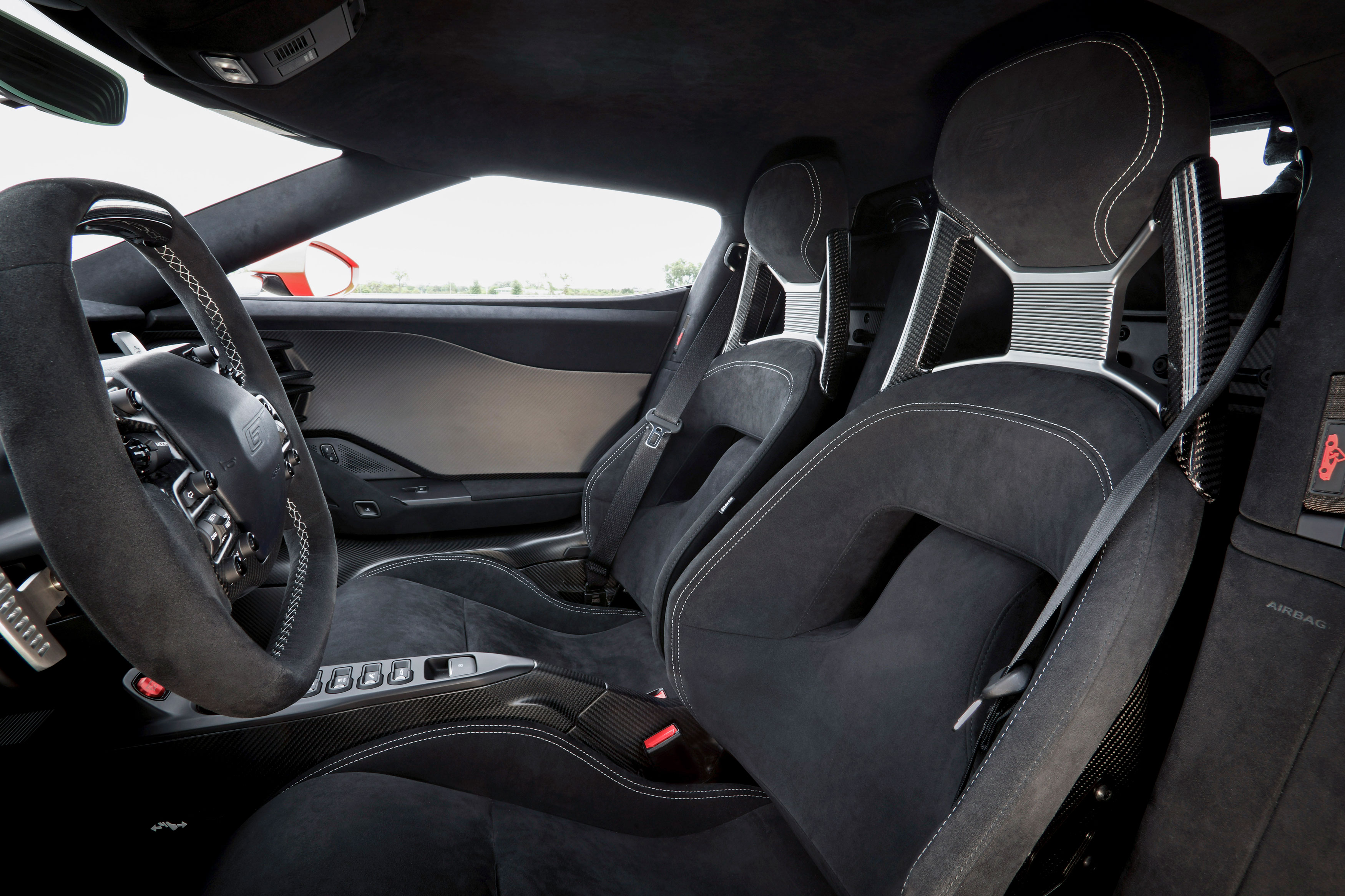 ford gt carbon series alcantara seats
