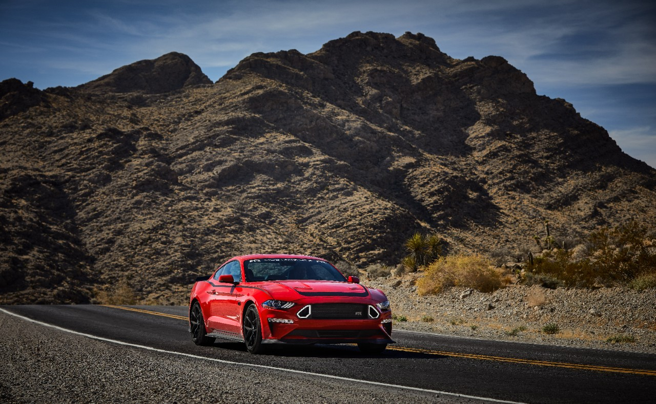 2019 Ford Mustang RTR front mountains road