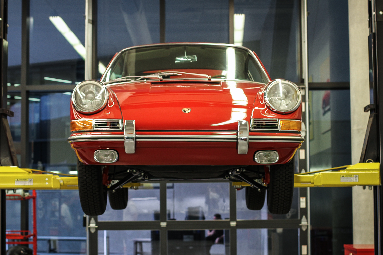 Porsche Classic Restoration 911 on lift