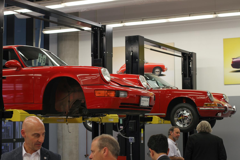 Porsche Classic Restoration 2 911s on lifts