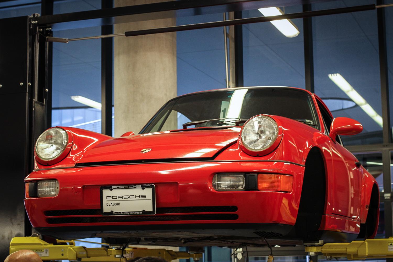 Porsche Classic Restoration  930 on lift