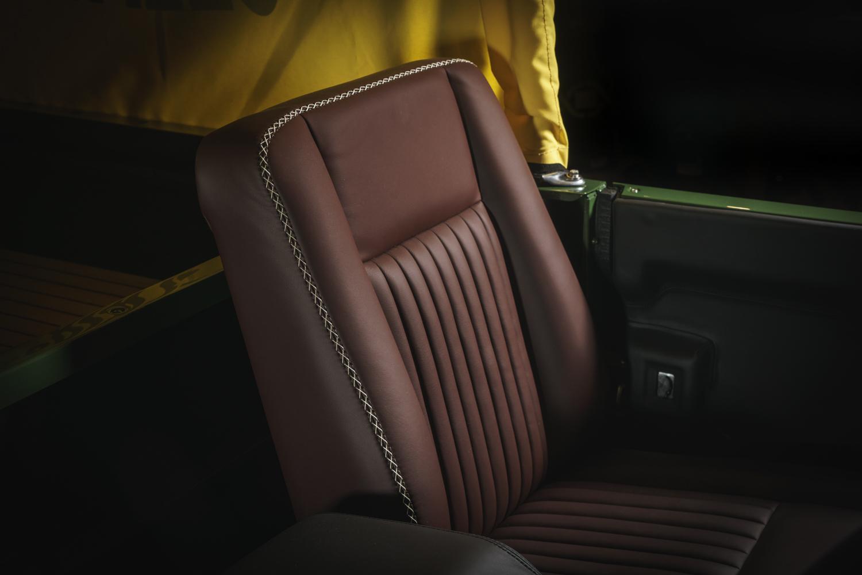 Selfridges Edition Land Rover Defender interior seat