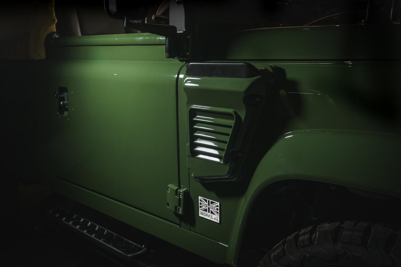 Selfridges Edition Land Rover Defender exterior side badge