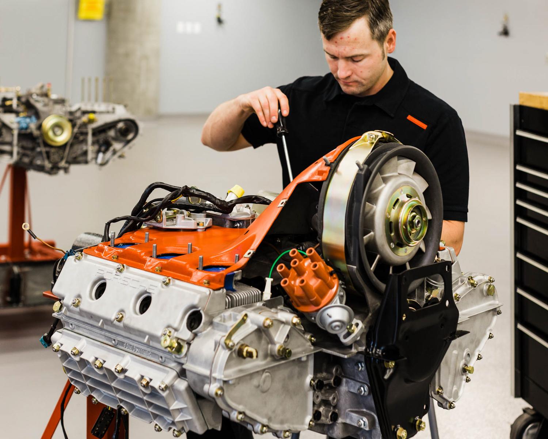 Porsche Classic flat 6 engine