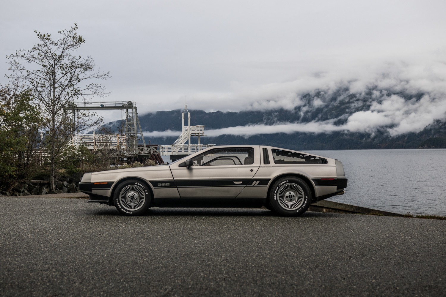 DeLorean DMC-12 vs Bricklin SV1 side shot dmc