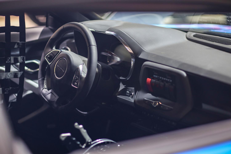 eCOPO Camaro concept interior steering wheel