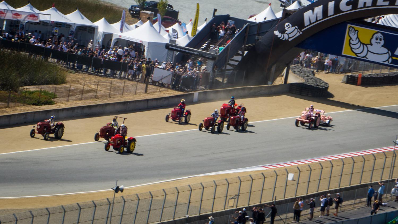 Porsche Rennsport Tractor race from the stands