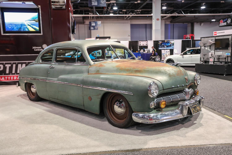 Icon Derelict 1949 Mercury Coupe front 3/4 sema