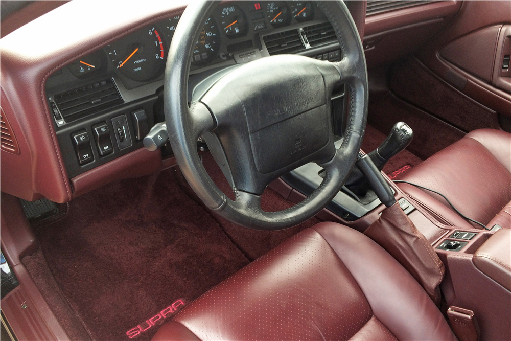 1990 Toyota Supra Turbo interior leather