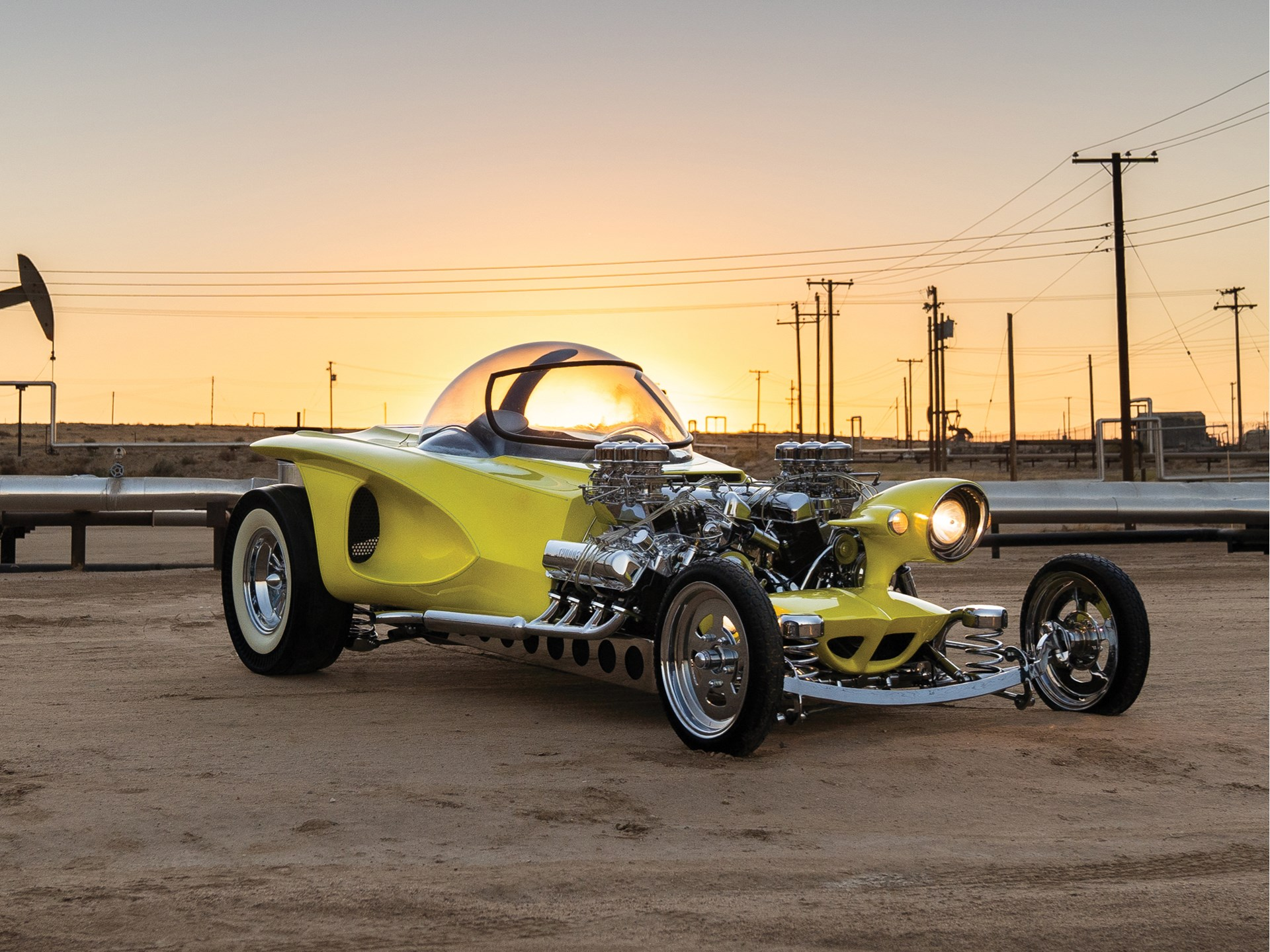Ed Roth's twin-engine Mysterion is gone, so one superfan built his own thumbnail