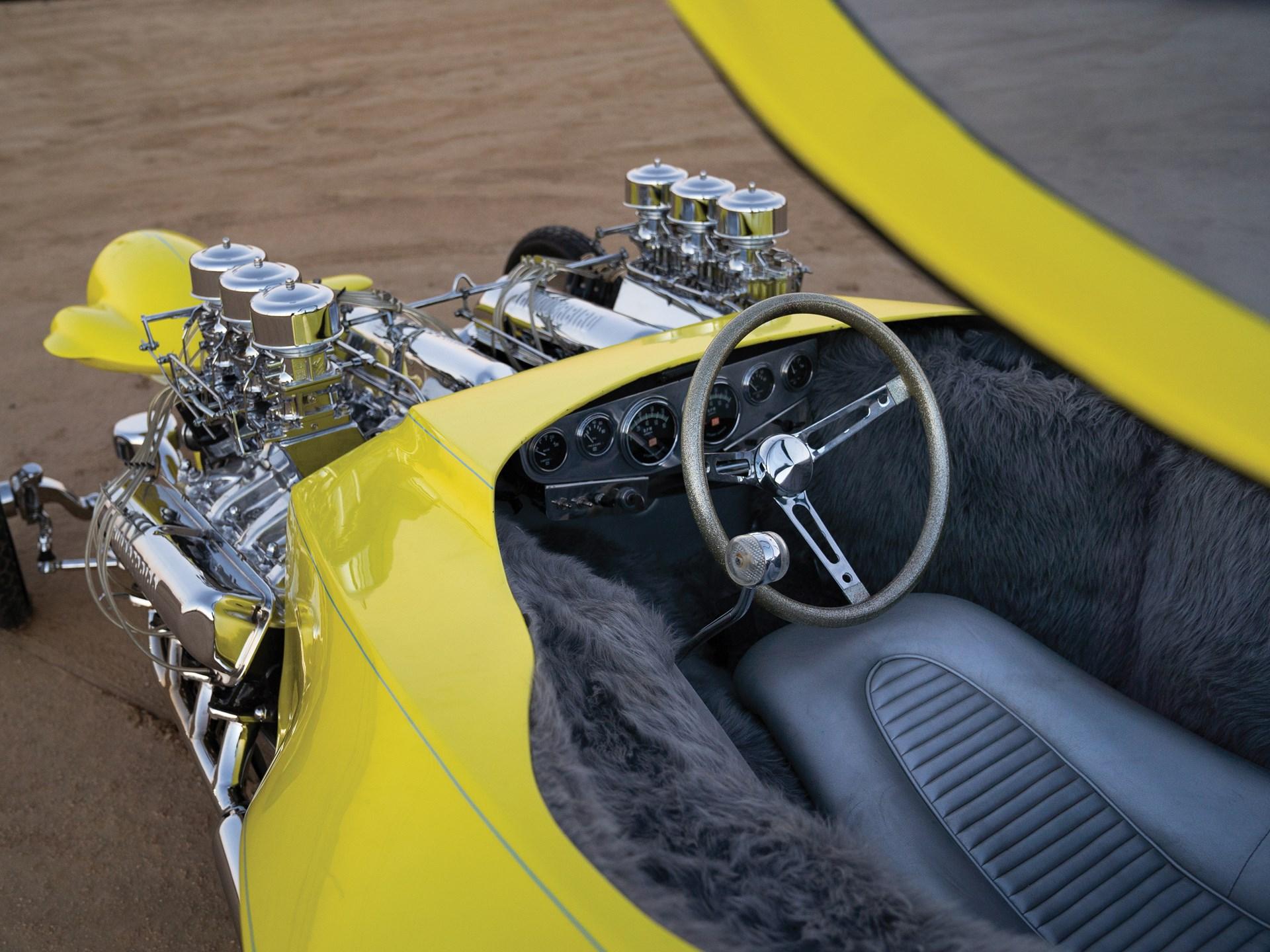 "1962 Ed Roth ""Mysterion"" Recreation interior steering wheel"