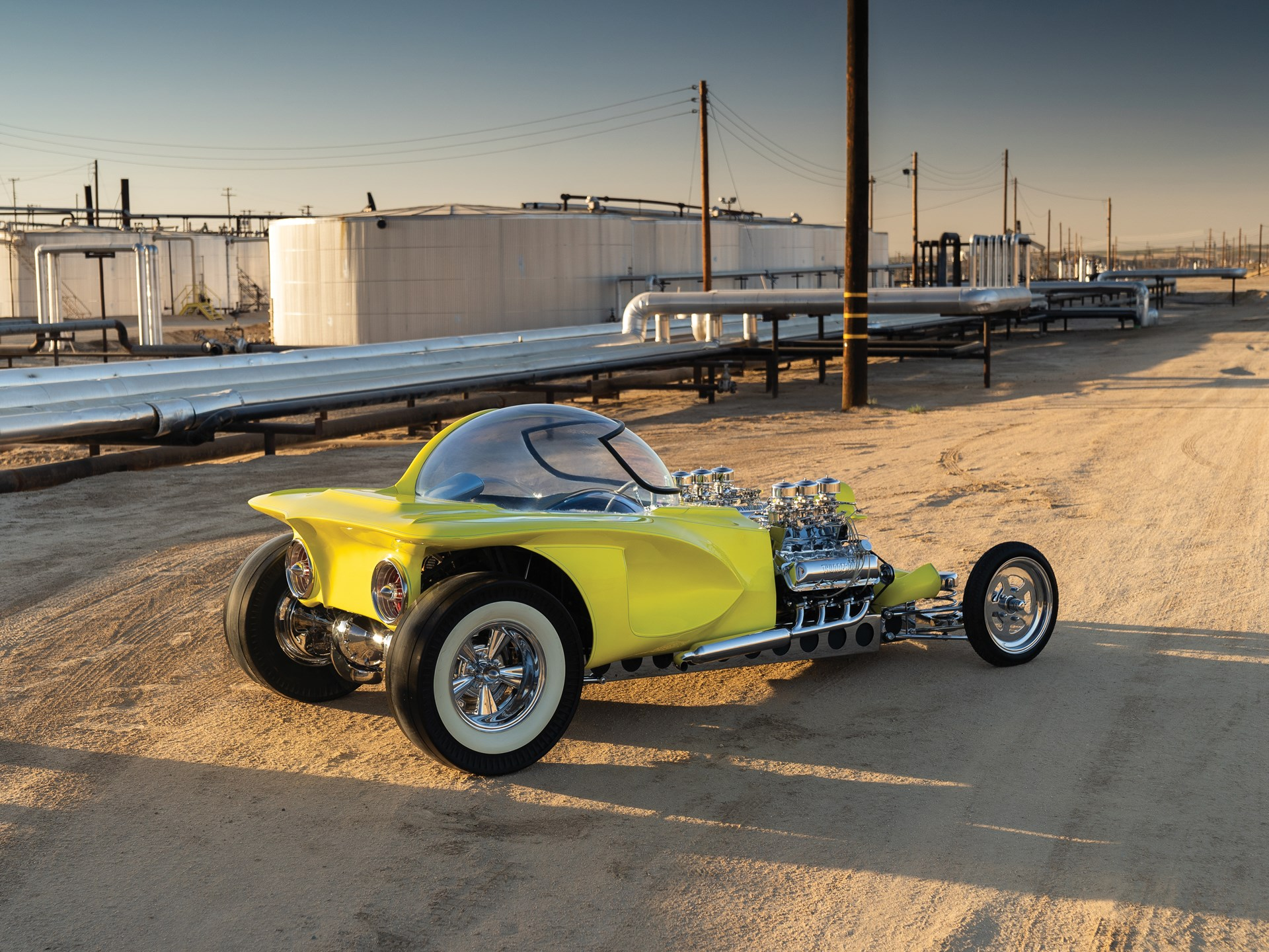 """1962 Ed Roth """"Mysterion"""" Recreation rear 3/4"""
