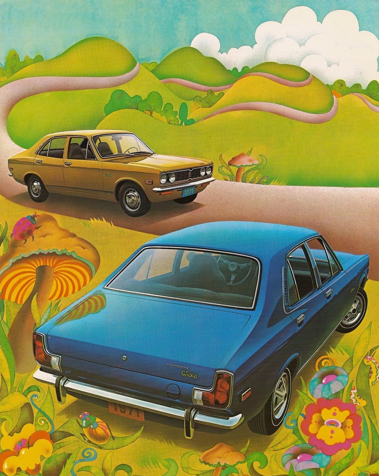 1971 Plymouth Cricket rear brochure