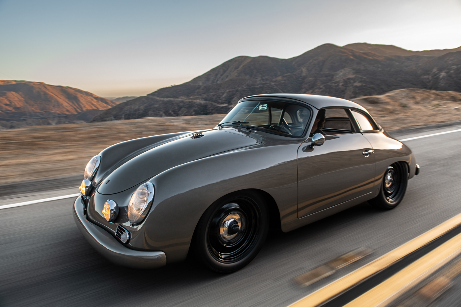 "1960 Porsche ""Emory  Special"" 356 close side 3/4 driving"