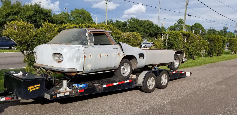 Cheetah Transporter on trailer going home
