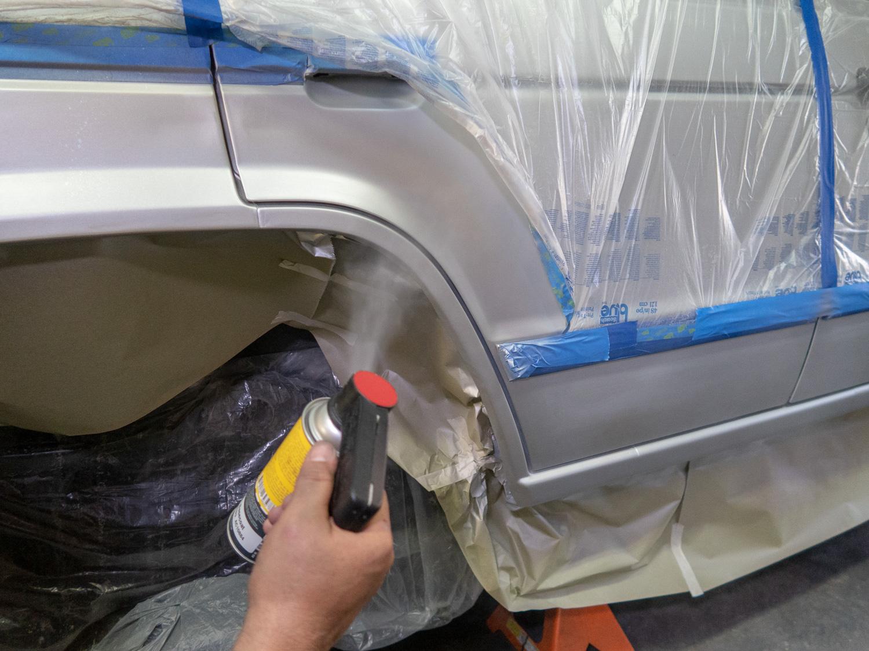 spray paint blending