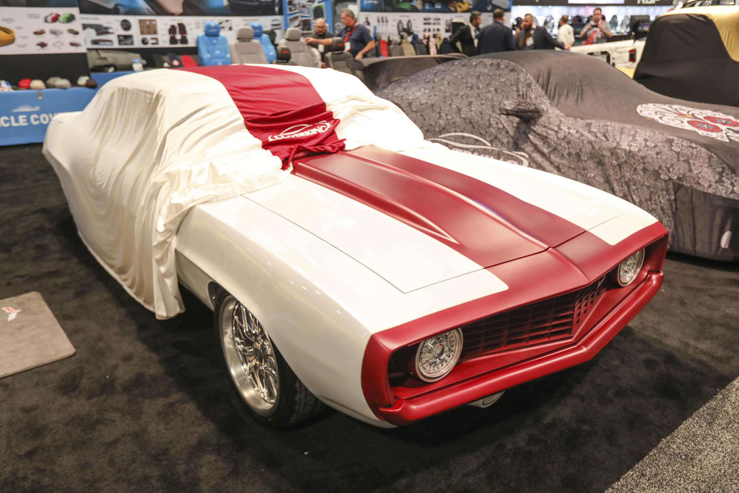 SEMA car under cover