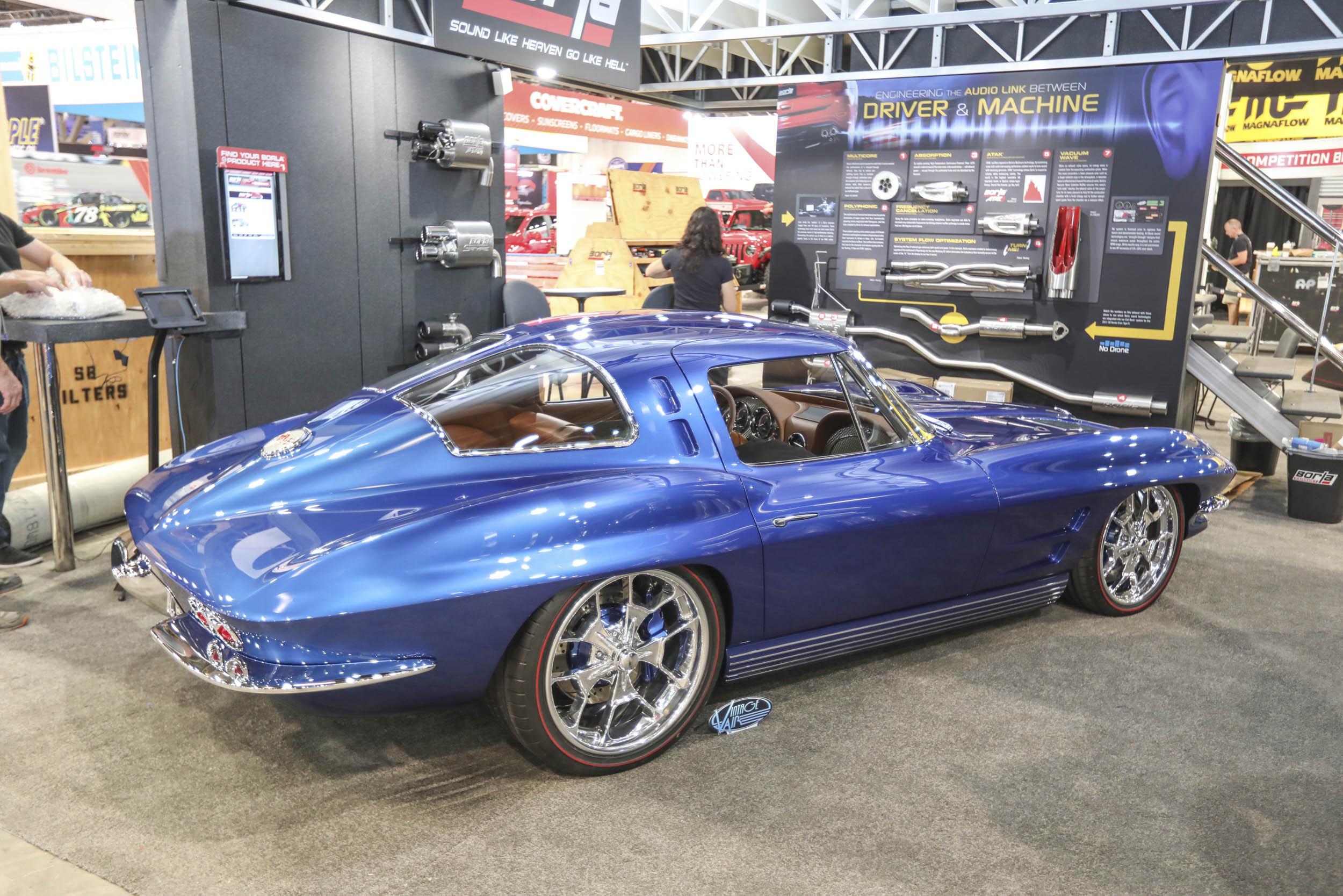 Custom split window Corvette at SEMA