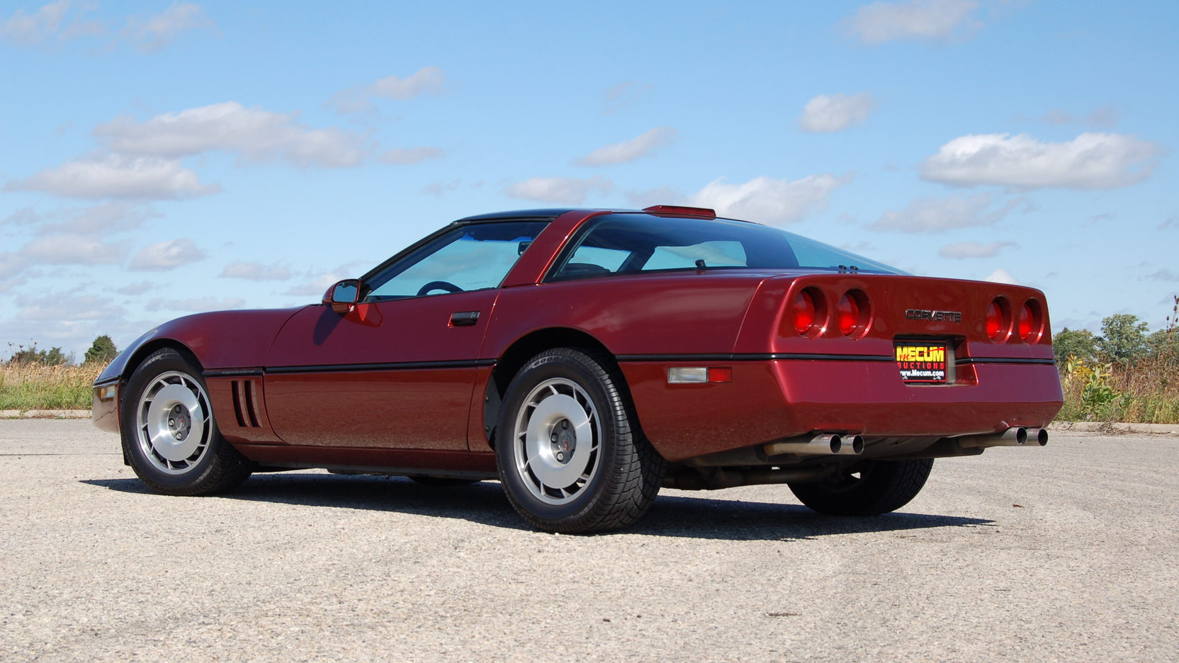 1987 Chevrolet Corvette rear 3/4