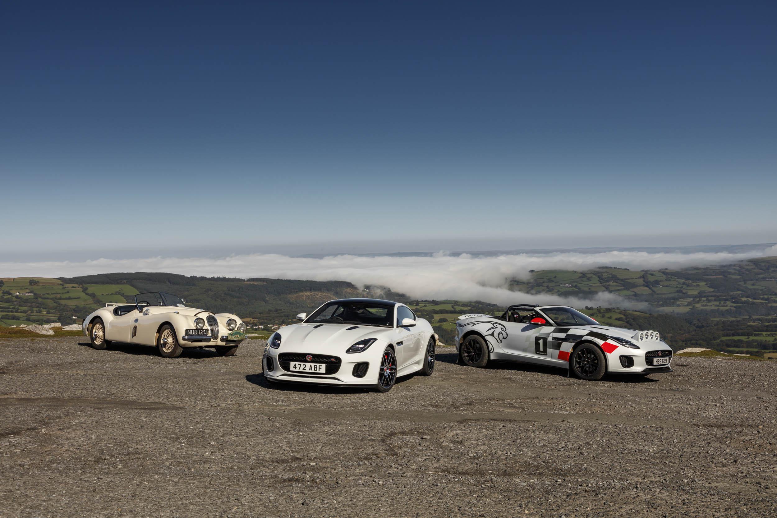 Jaguar F-type, Rally Car and  Jaguar XK 120