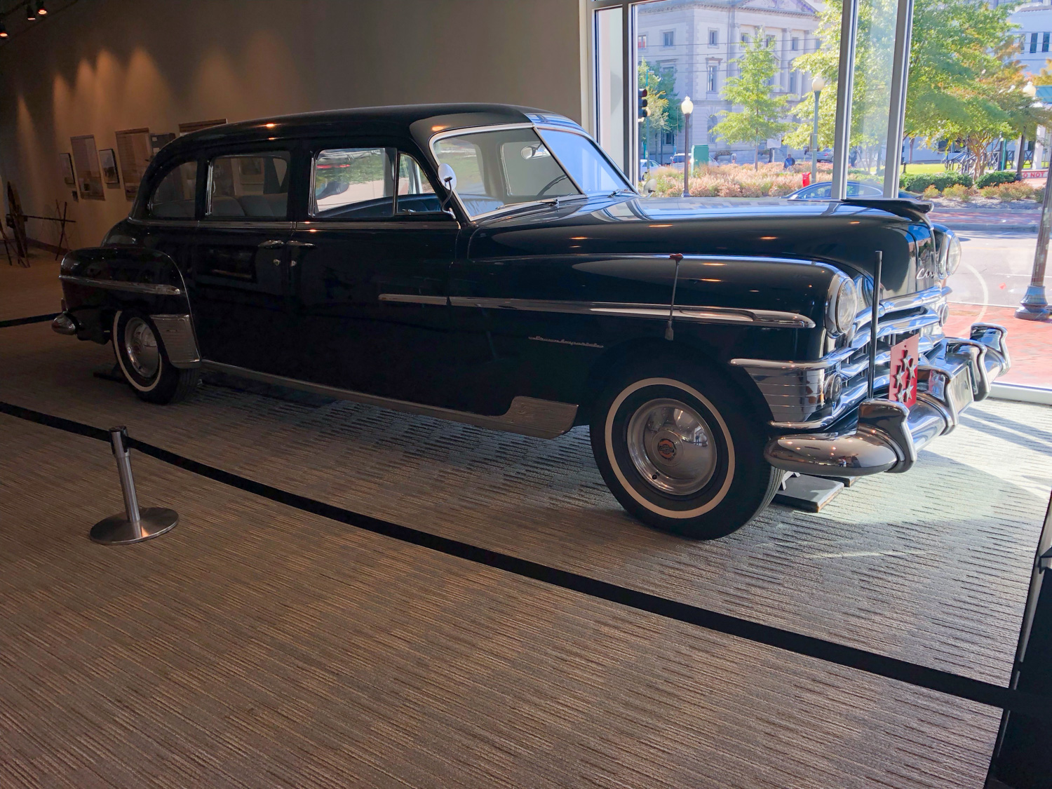 MacArthur's car has no fluids in it, and has not been driven since its donation in 1963.