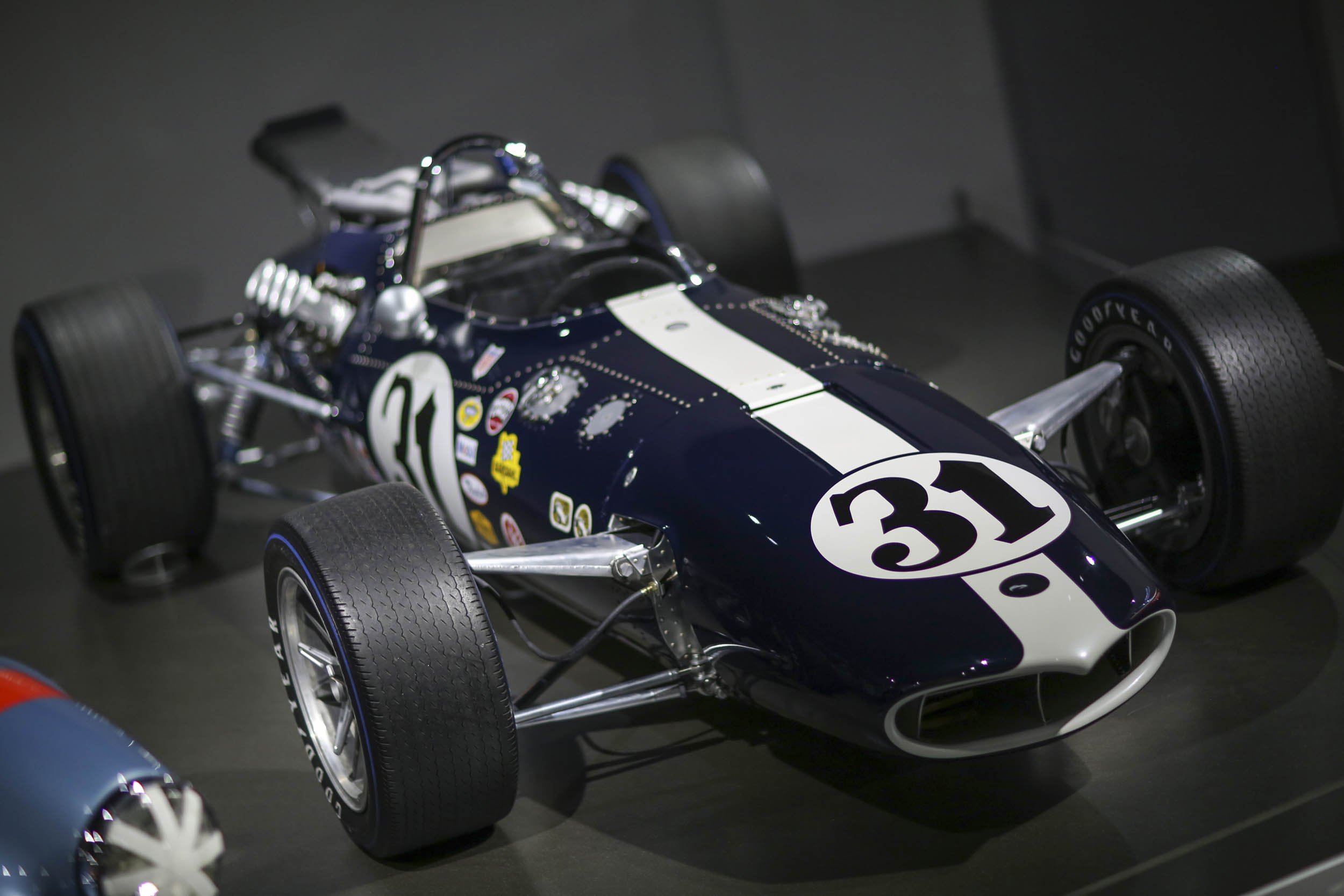 Built for the 1966 Indy 500 and piloted by Dan Gurney until a first-lap crash took it out of contention, this is the first All American Racer (AAR) Eagle that was built in the company's Santa Ana home