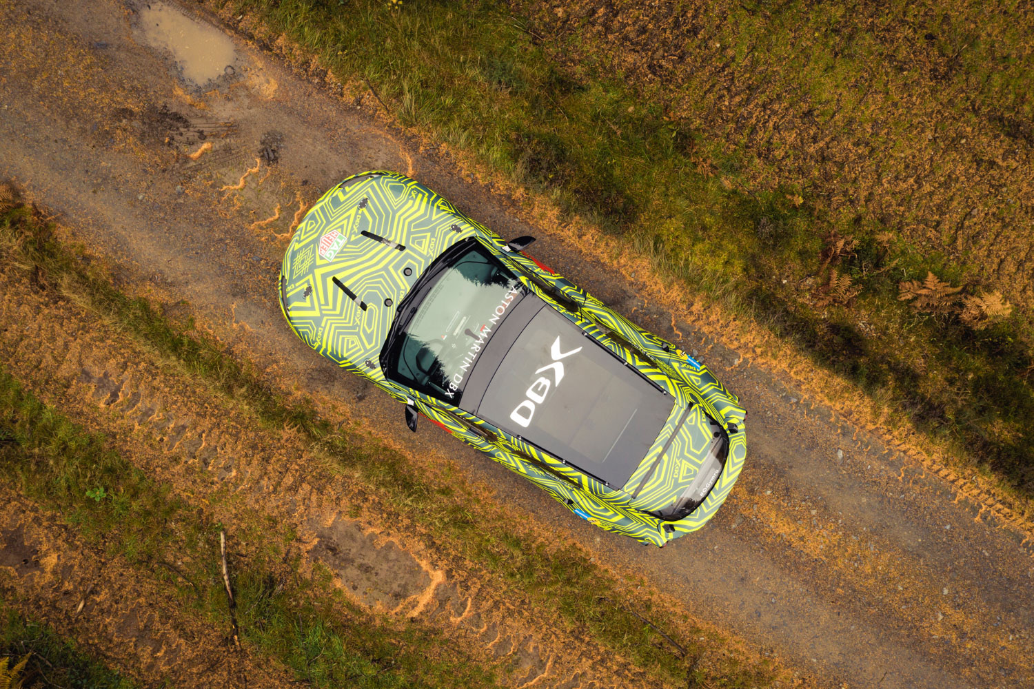 Aston Martin DBX prototype above view