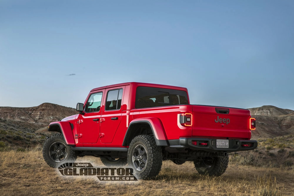 Jeep Gladiator Forum rear 3/4 red grass