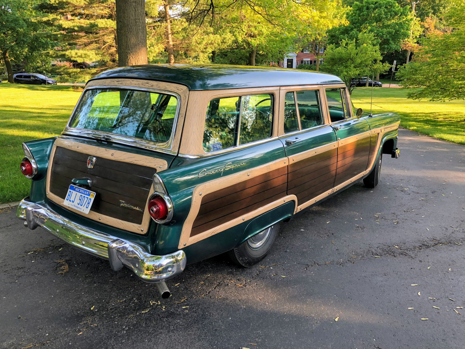 1955 Ford Country Squire Wagon rear 3/4