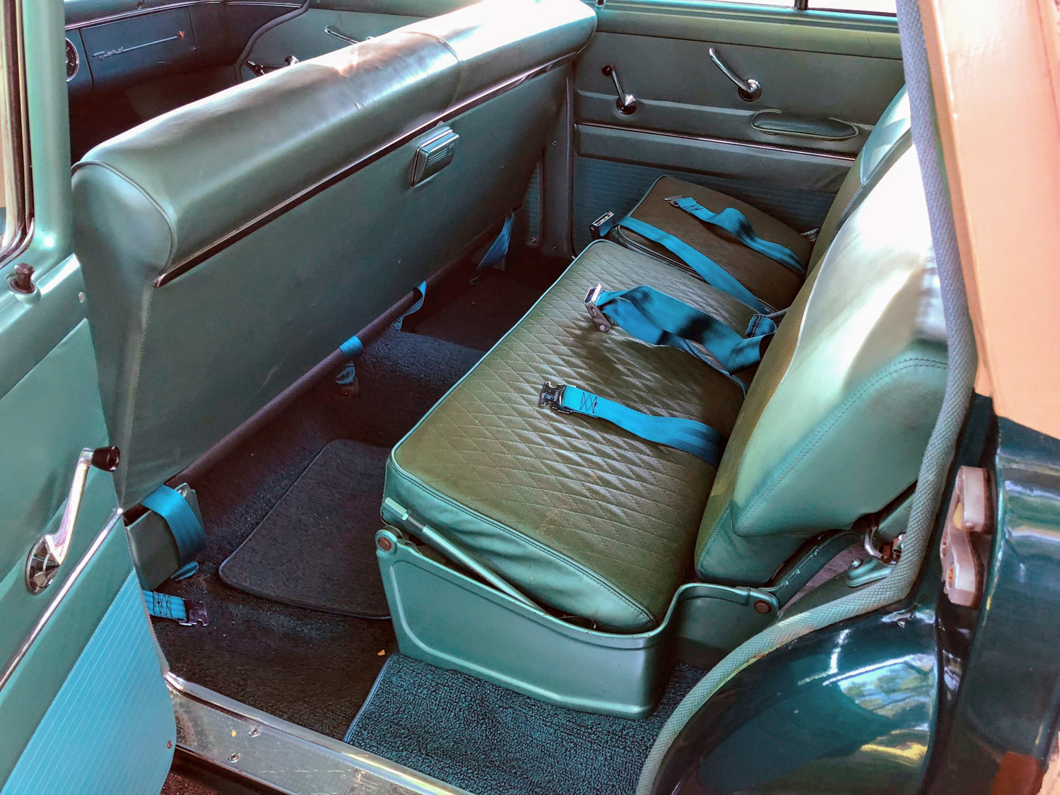 1955 Ford Country Squire Wagon  rear seats