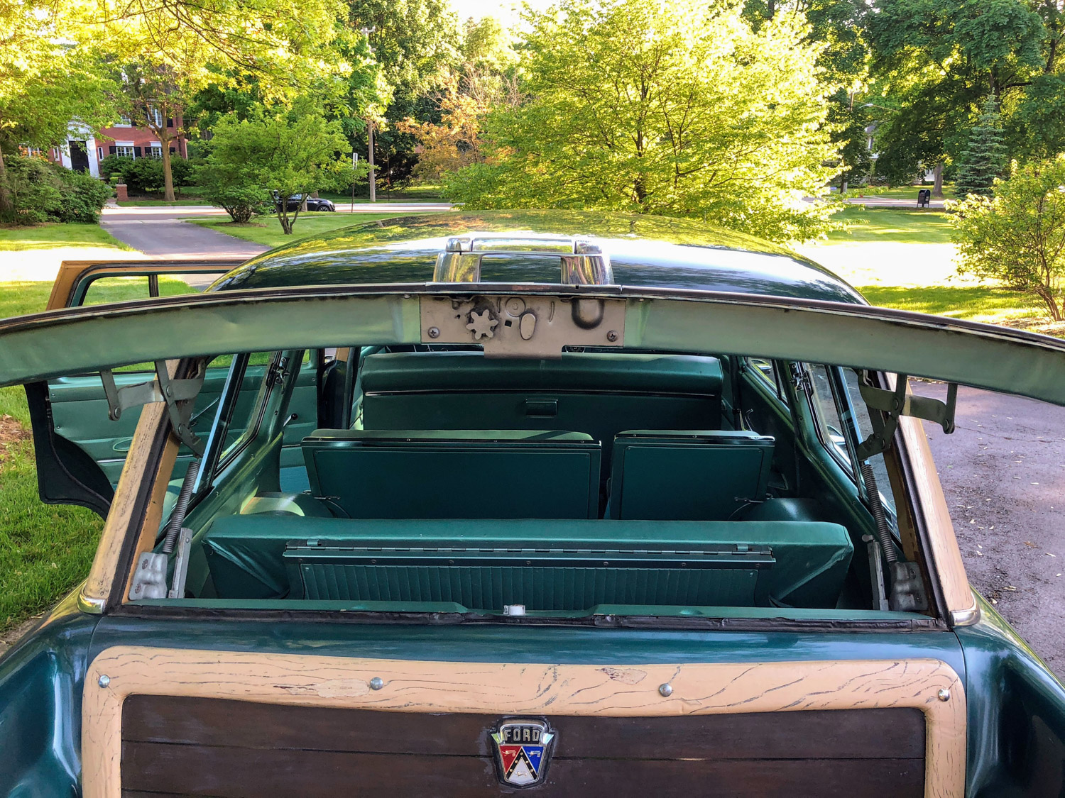 1955 Ford Country Squire Wagon rear hatch