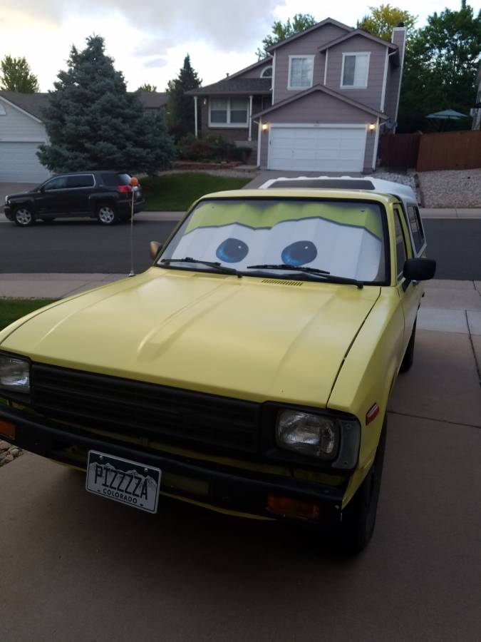 "1983 Toyota Pickup ""Pizza Planet"" toy story eyes"