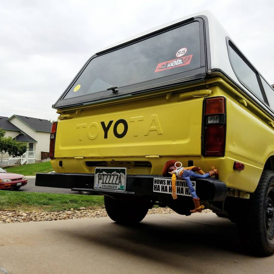 "1983 Toyota Pickup ""Pizza Planet""  yo tailgate toy story"