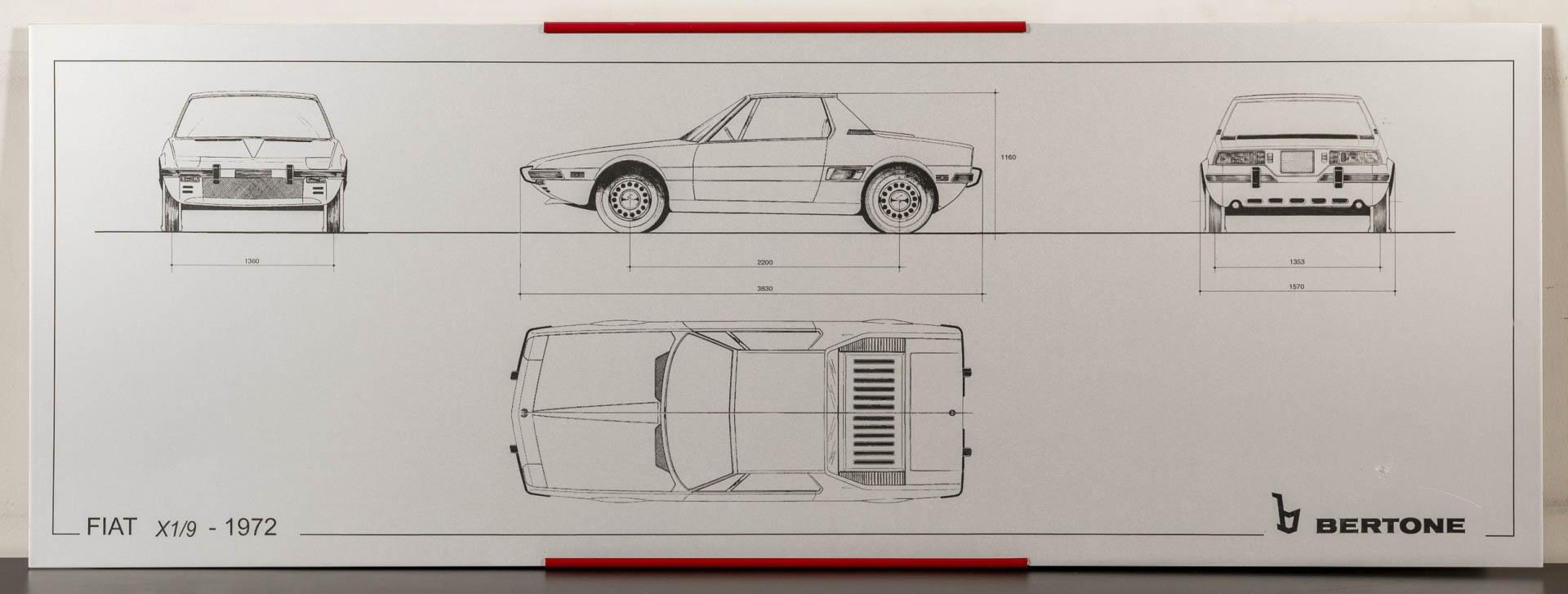 Fiat X1/9 silkscreen