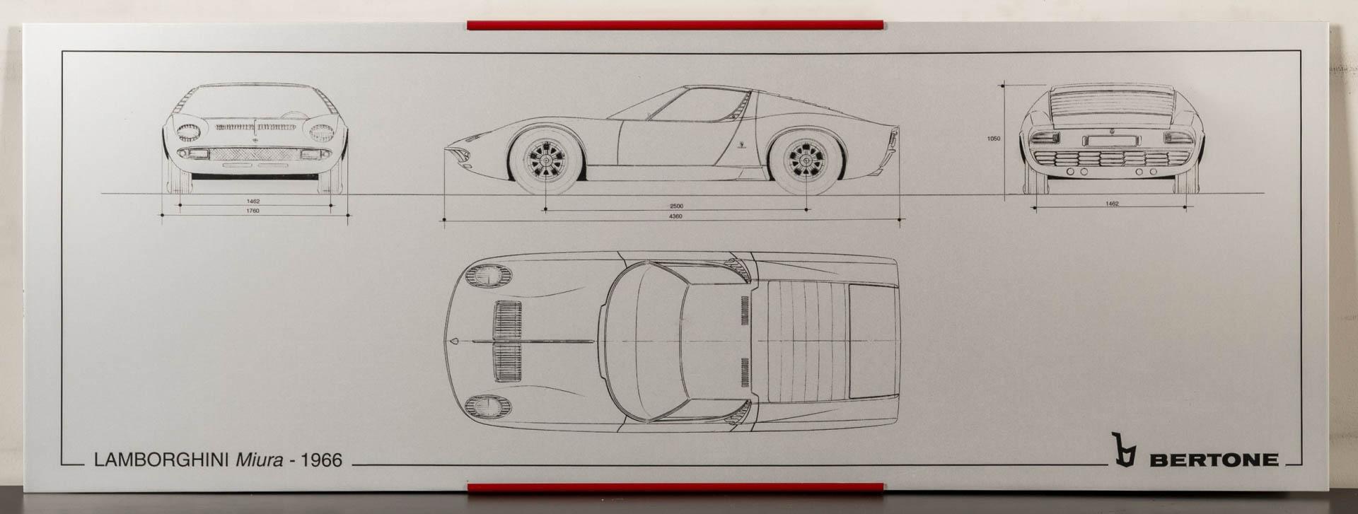 Lamborghini Miura silkscreen
