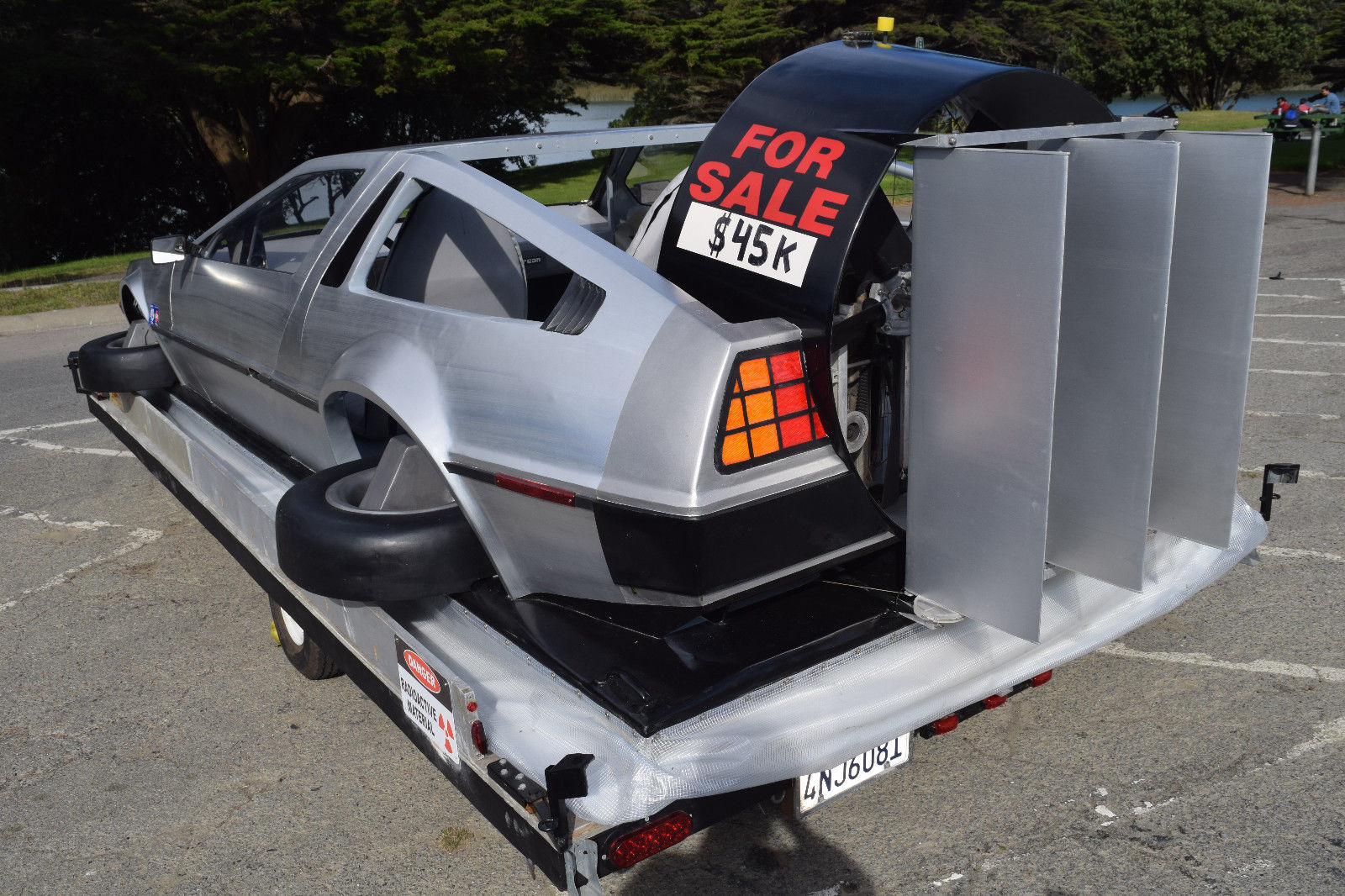norcore707 delorean hovercraft rear 3/4 trailer